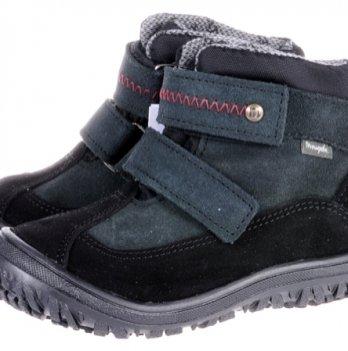 Ботинки демисезонные кожа Mrugala черно-серые