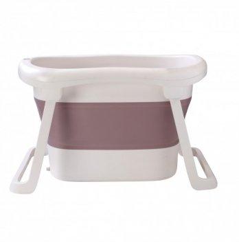 Ванночка Babyhood Премиум, складная, сидячая, нюдовая
