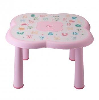 Детский столик Babyhood, АВС, розовый
