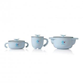 Набор детской посуды Babyhood, 5 в 1, голубой