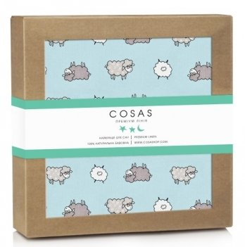 Непромокаемая пеленка Cosas Diaper Sheep Blue 70х120 см