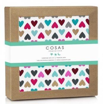 Непромокаемый наматрасник Cosas Water Sheet Love 70х120 см
