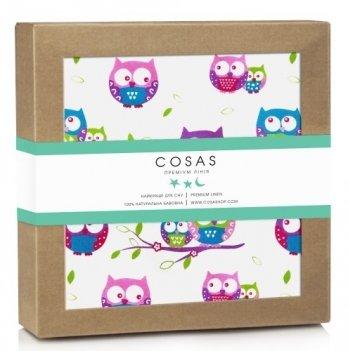 Непромокаемая пеленка Cosas Diaper Owl 70х120 см