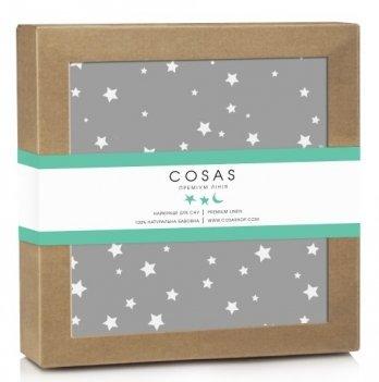 Непромокаемый наматрасник Cosas Water Sheet Starfalls Grey 70х120 см