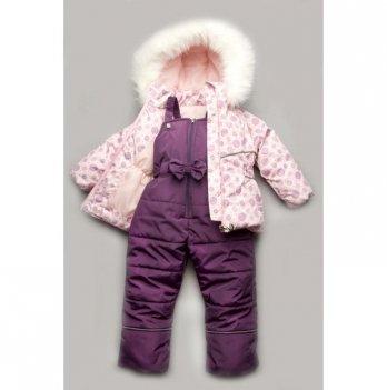 Зимний костюм для девочки Модный карапуз Bubble pink, розовый