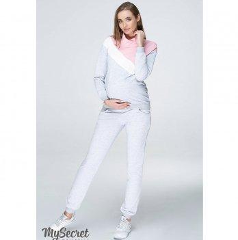 Спортивный костюм для беременных и кормящих MySecret Skye ST-39.022 серый меланж