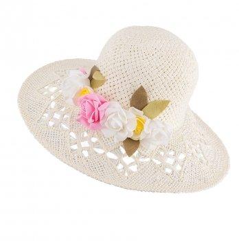 Шляпа для девочек Tutu 3-002560 бежевый