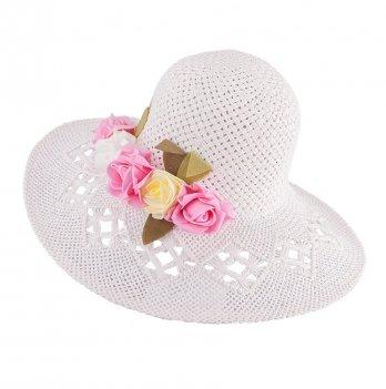 Шляпа для девочек Tutu 3-002560 белый