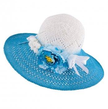 Шляпа для девочек Tutu 3-002563 голубой
