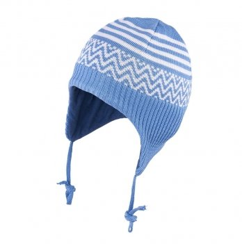 Шапка вязаная для малышей Tutu 3-003350, голубая