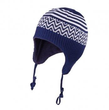 Шапка вязаная для малышей Tutu 3-003350, синяя