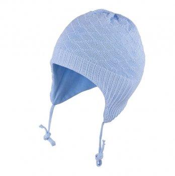 Шапка вязаная для малышей Tutu 3-003486, голубая