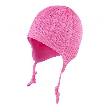 Шапка вязаная для девочки Tutu 3-003492, розовая