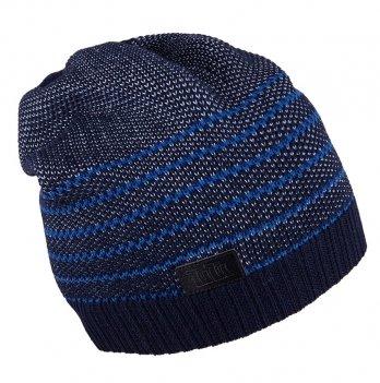 Шапка вязаная для мальчика Tutu 3-003502, синяя