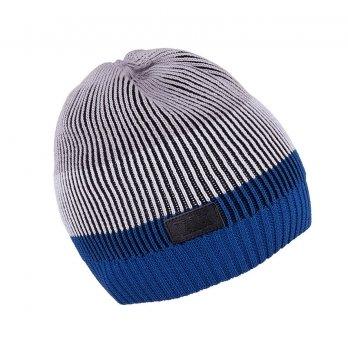 Шапка вязаная для мальчика Tutu 3-003503, синяя