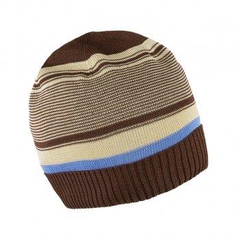 Шапка вязаная для мальчика Tutu 3-003506, коричневая