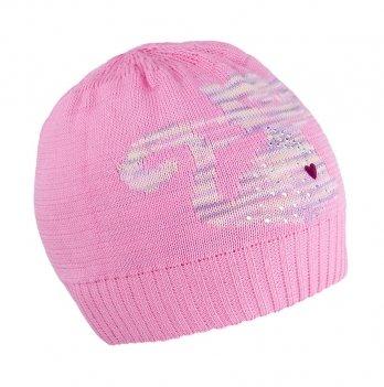 Шапка вязаная для девочки Tutu 3-003512, розовая