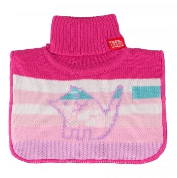 Манишка вязаная для девочки Tutu 3-003820, розовая