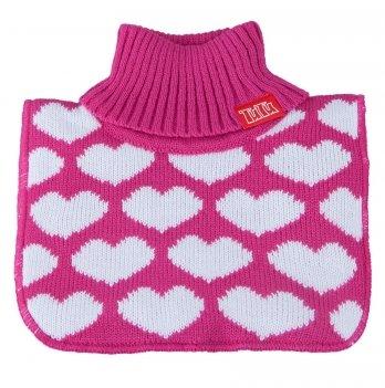 Манишка вязаная для девочки Tutu 3-003827 темно-розовый с белым