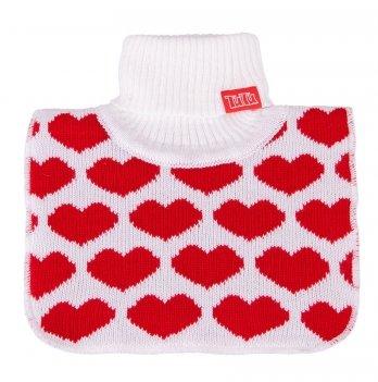 Манишка вязаная для девочки Tutu 3-003827 белая с красным