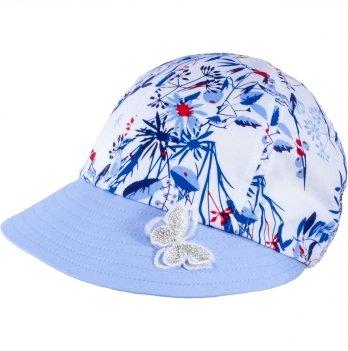 Хлопковая кепи для девочек Tutu 3-004497 голубой