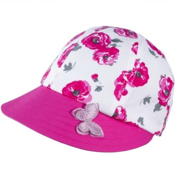 Хлопковая кепи для девочек Tutu 3-004497 малиновый