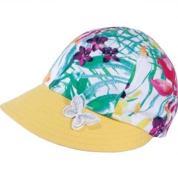 Хлопковая кепи для девочек Tutu 3-004497 желтый