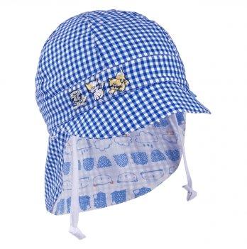 Кепка-бандана для мальчика с ушками двухсторонняя Tutu 3-004508 синий