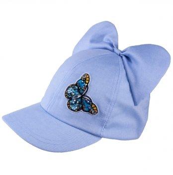 Бейсболка хлопковая для девочек Tutu 3-004597 голубой