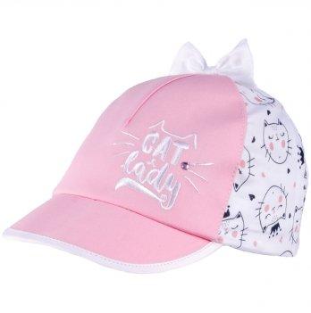 Бейсболка хлопковая для девочек Tutu 3-004599 розовый