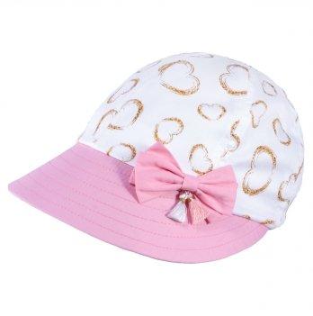 Хлопковая кепи для девочек Tutu 3-004616 розовый