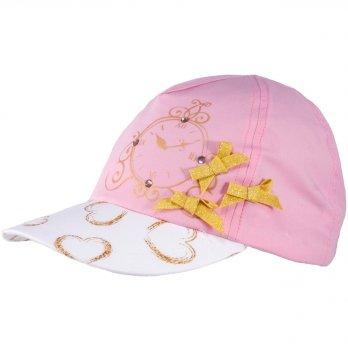 Бейсболка хлопковая для девочек Tutu 3-004617 розовый