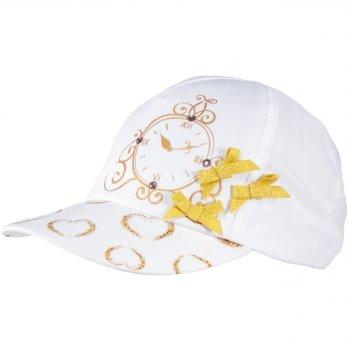 Бейсболка хлопковая для девочек Tutu 3-004617 белый