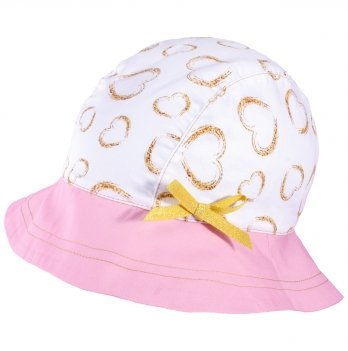 Панамка для девочек Tutu 3-004620 бело-розовый