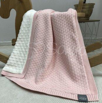 Пледдля новорожденных вязаный Маленькая Соня WellSoftРомб мелкий Розовый937908