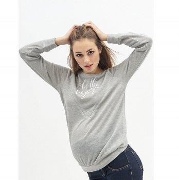 Джемпер для беременных и кормящих To Be Серый 40790241-53