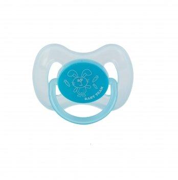 Пустышка силиконовая вишнеобразной формы 0+ Baby Team 3003 голубой
