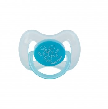 Пустышка силиконовая классическая 0+ Baby Team 3007 голубой