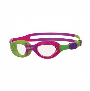 Очки для плавания Zoggs Little Super Seal, возраст до 6 лет, розовые/зеленые