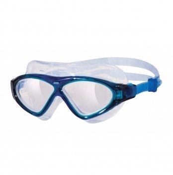 Очки-маска для плавания Zoggs Tri-Vision Mask Clear темно голубые