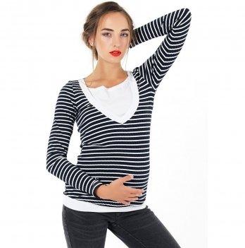 Джемпер для беременных и кормящих To Be Синий 4034525
