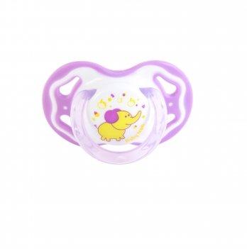 Пустышка силиконовая классическая 6+ Baby Team 3014 фиолетовый