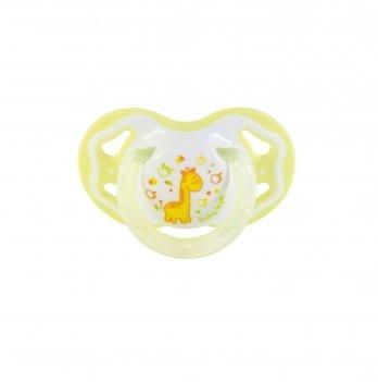 Пустышка силиконовая классическая 6+ Baby Team 3014 салатовый