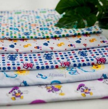 Набор ситцевых пеленок Flavien цвет в ассортименте 90х110 см 5 шт. 3022