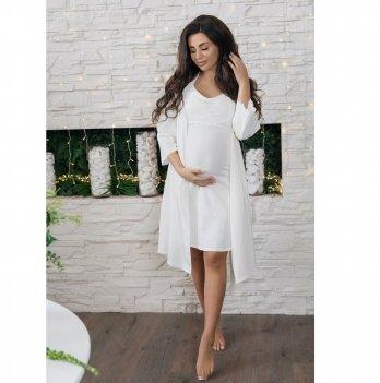 Халат для беременных To Be Кремовый 3057041