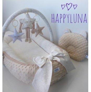 Кокон-гнездышко Happy Luna 0104 BabyNest Premium Версаль 2