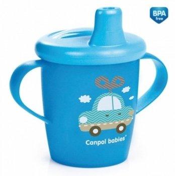 Кружка-непроливайка Canpol babies Toys, 250мл, синяя