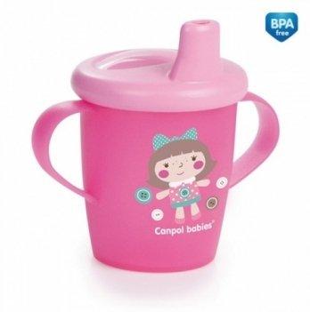 Кружка-непроливайка Canpol babies Toys, 250мл, розовая