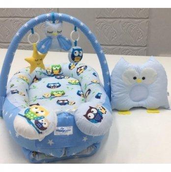 Кокон-гнездышко Happy Luna 0115 Babynest Plush Совки 4