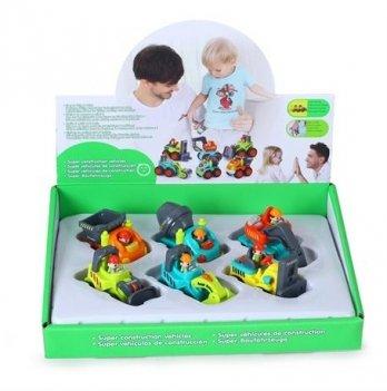 Набор игрушек Hola Toys 3116C Строительные машинки 6 шт